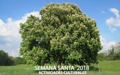 Semana Santa 2018, actividades culturales
